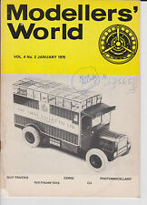 Modellers World Magazine January 1975 Guy Trucks Old Italian Toys Military Dinky