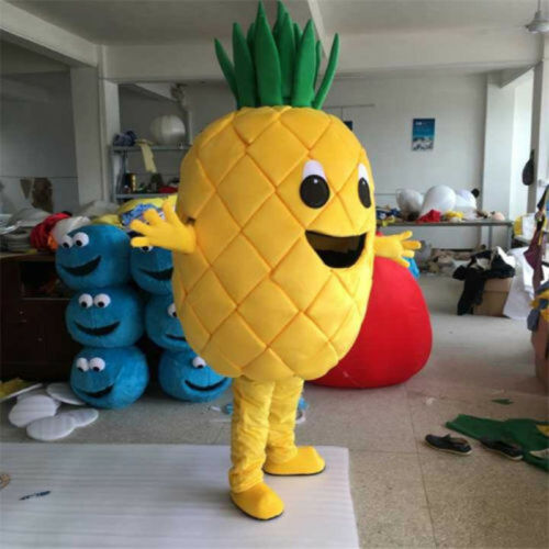 Advertising Pineapple Mascot Costume Xmas Party Fancy Dress Outfit Adult Cosplay