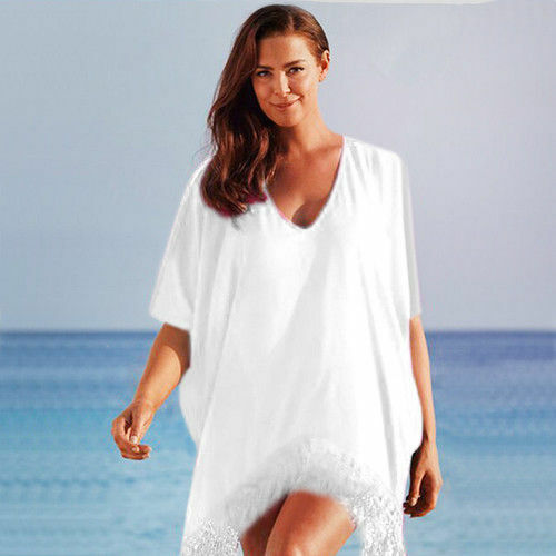 Women Summer Holiday Beach Bikini Cover Up Kaftan Sarongs Mini Dresses Beachwear