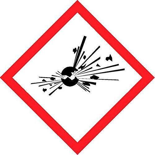 Explosive symbol coshh safety sign