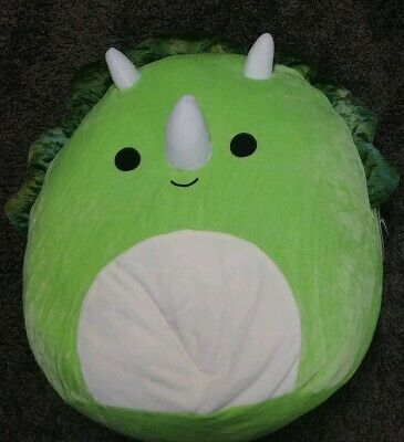 NWT Squishmallow 12 inch Green Dinosaur Triceratops Summer  cute soft Tristan