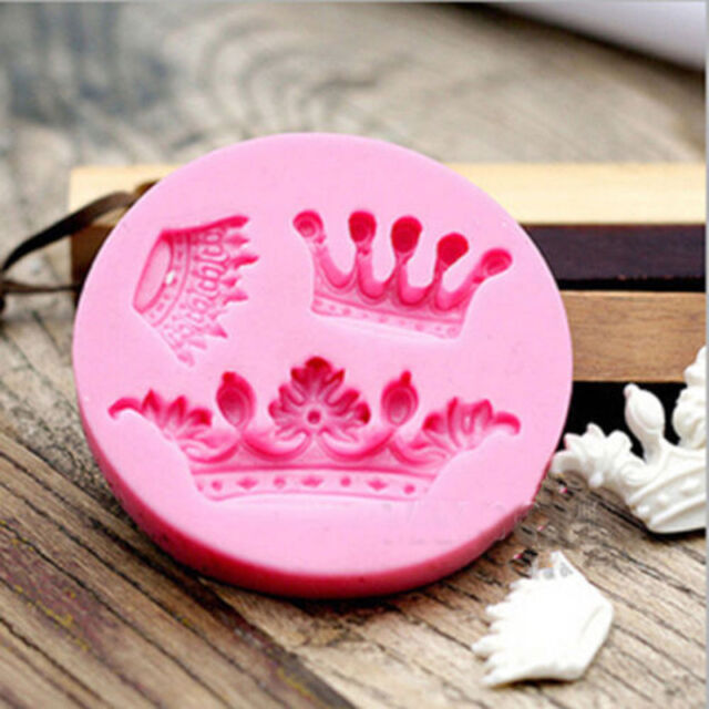 2015 Stylish Crown Silicone Fondant Mold Cake Decorating Chocolate Baking Mould