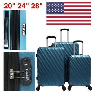 Super-Light-ABS-Hard-Shell-3-PCS-Travel-Luggage-Set-Hardside-Spinner-20-24-28
