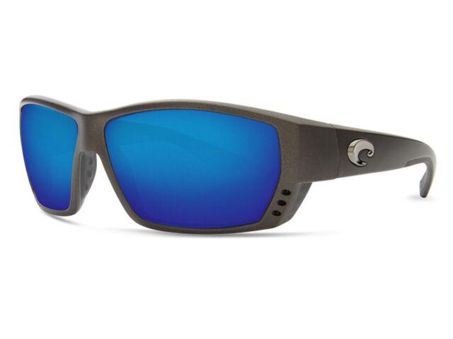 bdb988110b4 Costa Del Mar Tuna Alley TA 188 Matte Steel Grey Wrap Polarized Sunglasses  62mm