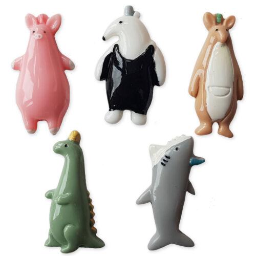 5pcs Cartoon Animals Resin Flatback Cabochons Embellishment Decoden Craft Diy