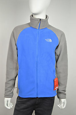 0dfe91ad18a6 THE NORTH FACE NWT MENS BLUE GRAY MAGAL FULL ZIP FLEECE JACKET SIZE S Small  7161