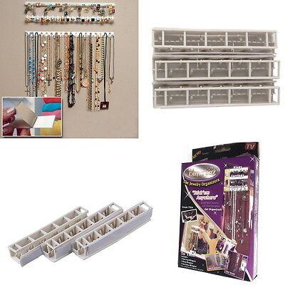 9pcs Adhesive Wall Mount Jewelry Hooks Holder Storage Set Organizer Display FS