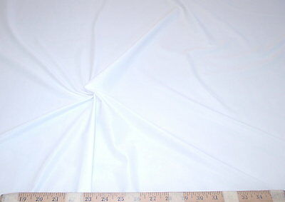 Discount Fabric Nylon Lycra Spandex 4 way stretch Solid White 04NLY