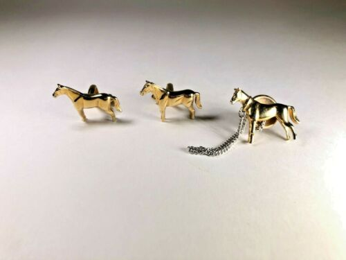 Vintage Sterling Set of Three Horse PinsTacks