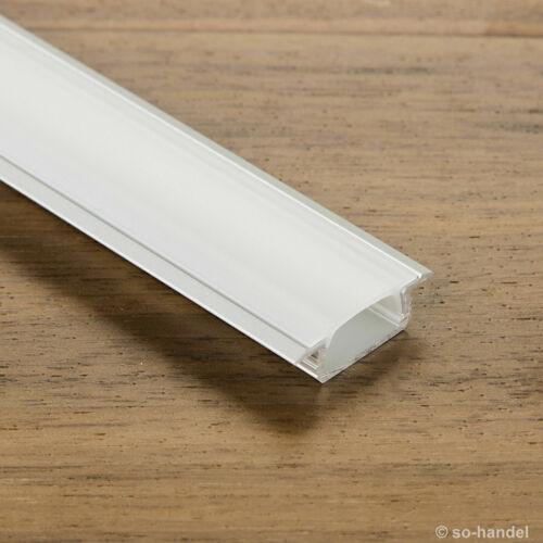 3 x LED Profil-44 mit opaler Abdeckung 2 m für LED Stripes Einfräsprofil Leiste
