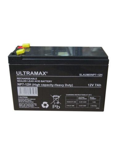ULTRAMAX 12V 7AH HEAVY DUTY DEEP CYCLE Rechargeable ALARM PANEL BATTERY