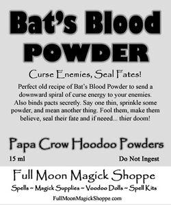 Image Is Loading Bat 039 S Blood Powder Hoodoo Curse Dust