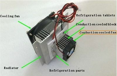 Thermoelectric Peltier Refrigeration Cooling System Kit Cooler fan TEC1-12706 b2