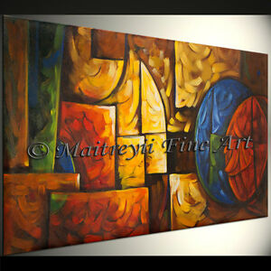 Details About Original Abstract Modern Paintings Green Contemporary Art Gallery By