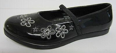 Spot On h2122 Niña Charol Negro Zapatos UK Tamaños 10 x 2 (R1B)