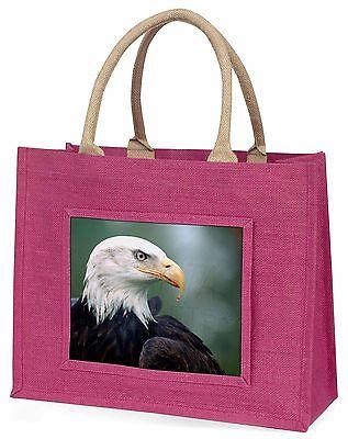 Eagle, Raubvogel große rosa Einkaufstasche Weihnachten Geschenkidee, ab-e6blp