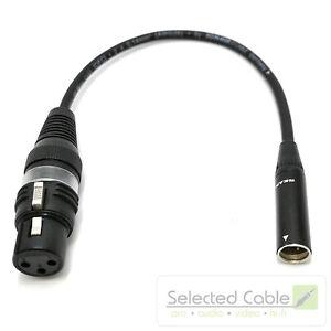 25cm-Tiny-XLR-m-auf-XLR-w-REAN-Mini-Adapter-Mikrofonkabel-Blackmagic-Kamera