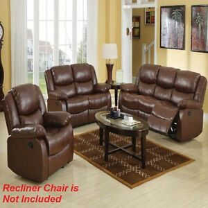 New 2pc Motion Sofa Set Living Room Brown Modern Comfort Couch Sofa & Loveseat