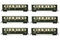 Rivarossi Reading Railroad Plug Door Box Car Ho Scale Train Car - Set Of 6 Cars