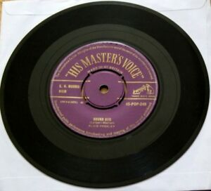 VGC-ELVIS-HOUND-DOG-b-w-DONT-BE-CRUEL-Vinyl-HMV-45-POP-249-PURPLE-GOLD