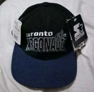 Toronto-Argonauts-Starter-Velcro-Hat-NWT-black-blue