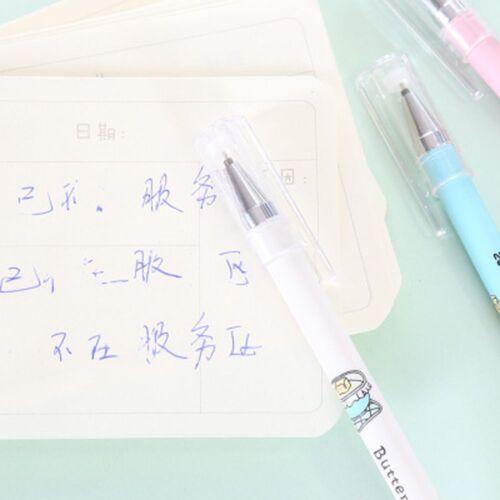 3Pcs Kawaii Erasable Gel Pen School Student Stationery Black//Blue Ink Pen 0.35mm