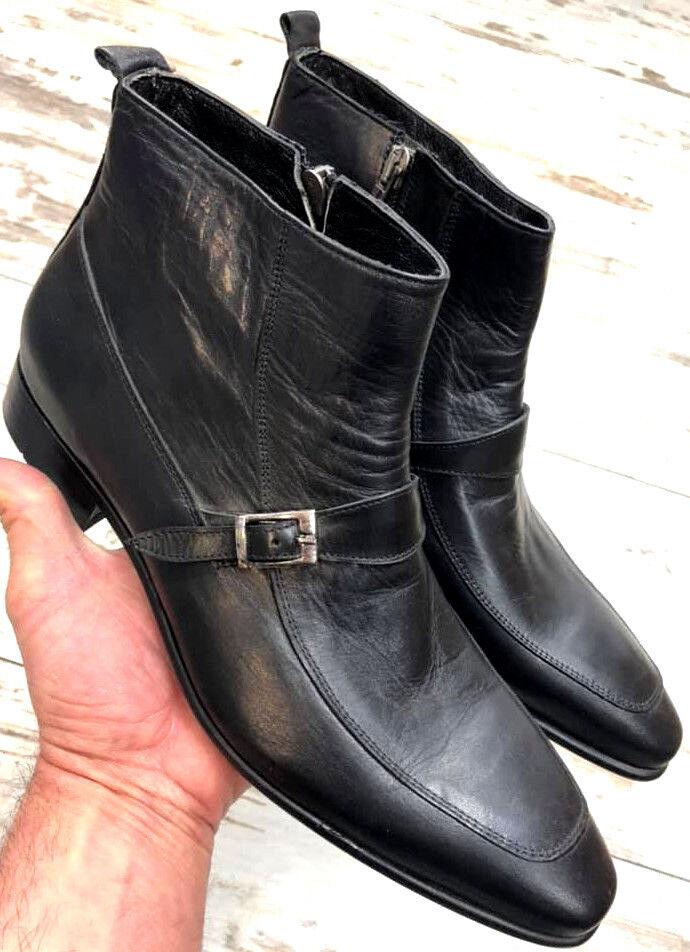 RegaIan botas señores Designer Business botín botas cierre por cremallera 39