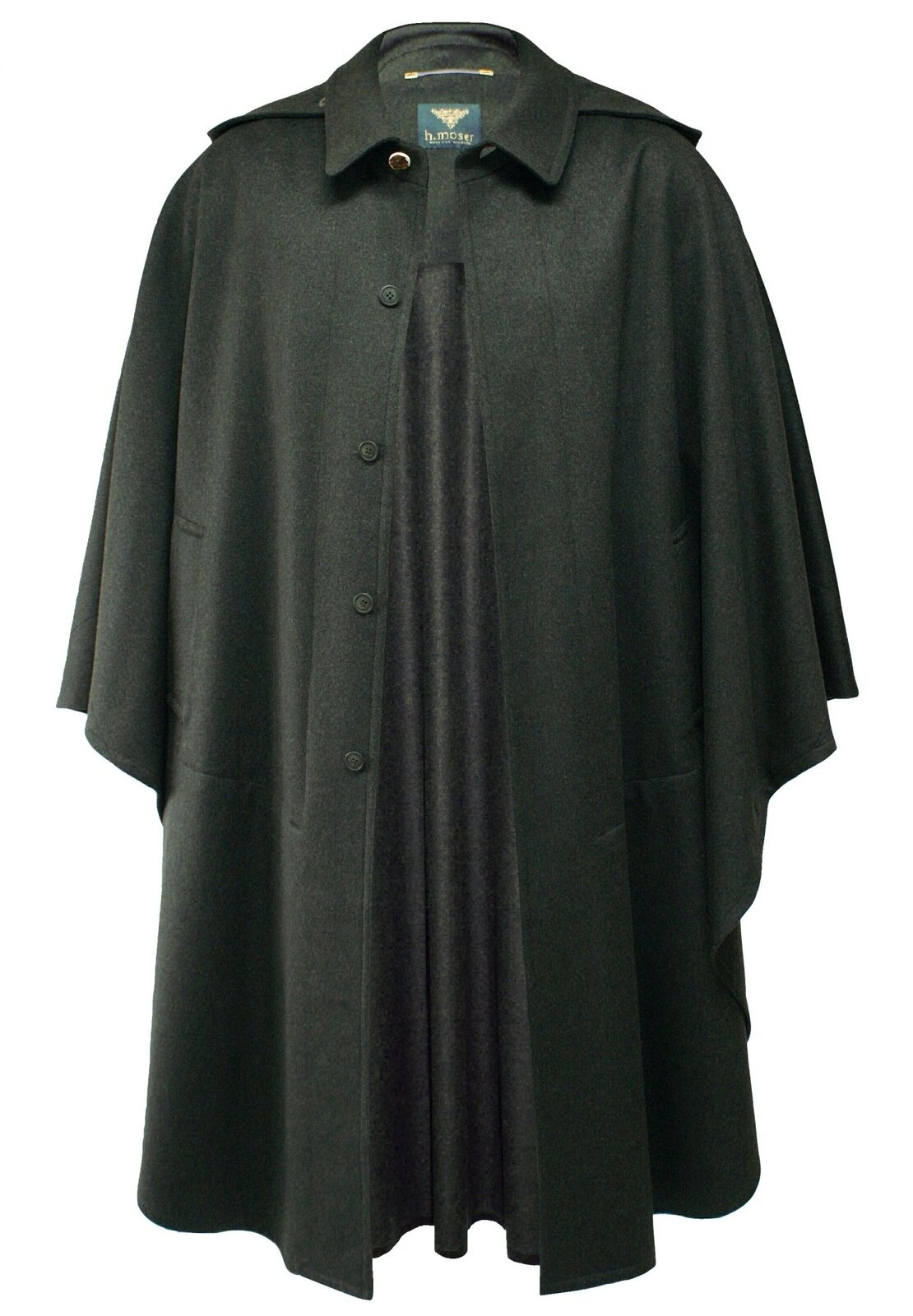 Mancha meteorológico verde loden capa Cape poncho caza abrigo capucha Trachten abrigo