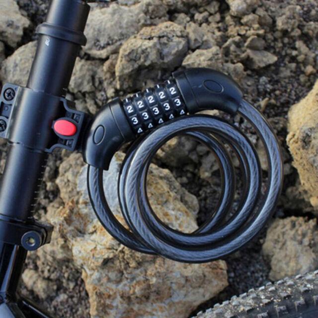 Bicycle Code Lock Bike Anti-theft 3 Digital Security Lock Cable Password Lock