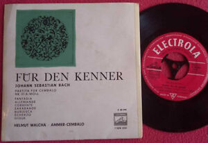 "Bach / Walcha / Ammer / Partita für Cembalo Nr. 3 (III) A-Moll 7"" Single Vinyl"