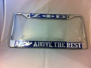 Details about Zeta Phi Beta A Dove Above the Rest Blue/Silver License Plate  Frame-New!