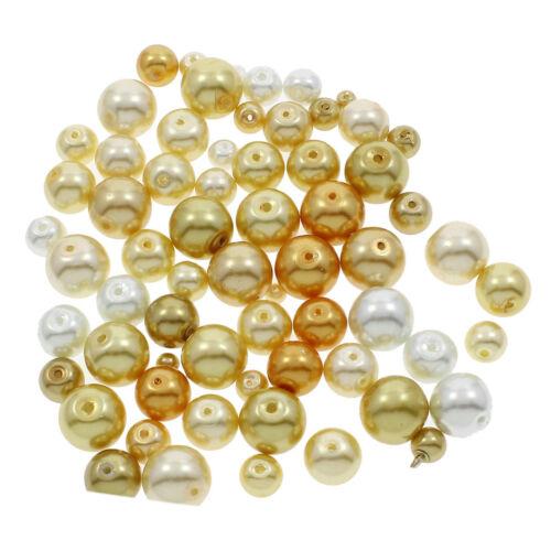 1 kg para joyas perlenset selector de color Vidrio despierta perlas alrededor de talla Mix 250g