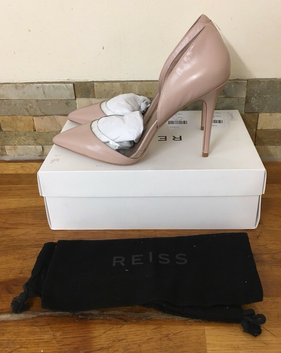 REISS Paolina Leder And Vinyl Schuhes Größe UK 8/41