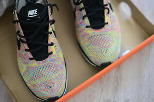 3114793706cb ... good image is loading nike flyknit racer og multi color black tongue  37b46 7e1e0