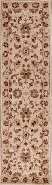 """Hand-Tufted Floral Runner Traditional Agra Oriental Rug Wool  9' 7"""" x 2' 6"""""""