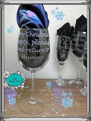 Personalizzato Bicchiere Di Vino Vino Vetro Inciso Regali Di Natale Dei Nomi Di Natale-