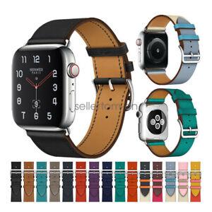 Apple-Watch-Series-5-4-2-3-Band-Bandkin-Single-Tour-Genuine-Leather-Watch-Strap