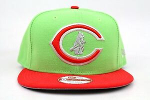 1472a47f3dd Chicago Cubs Light Lime Hot Red Metallic Silver MLB New Era 9Fifty ...