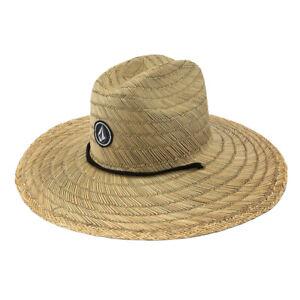 Volcom-034-Quarter-034-Straw-Hat-Natural-Unisex-Outdoor-Sun-Beach-Cap