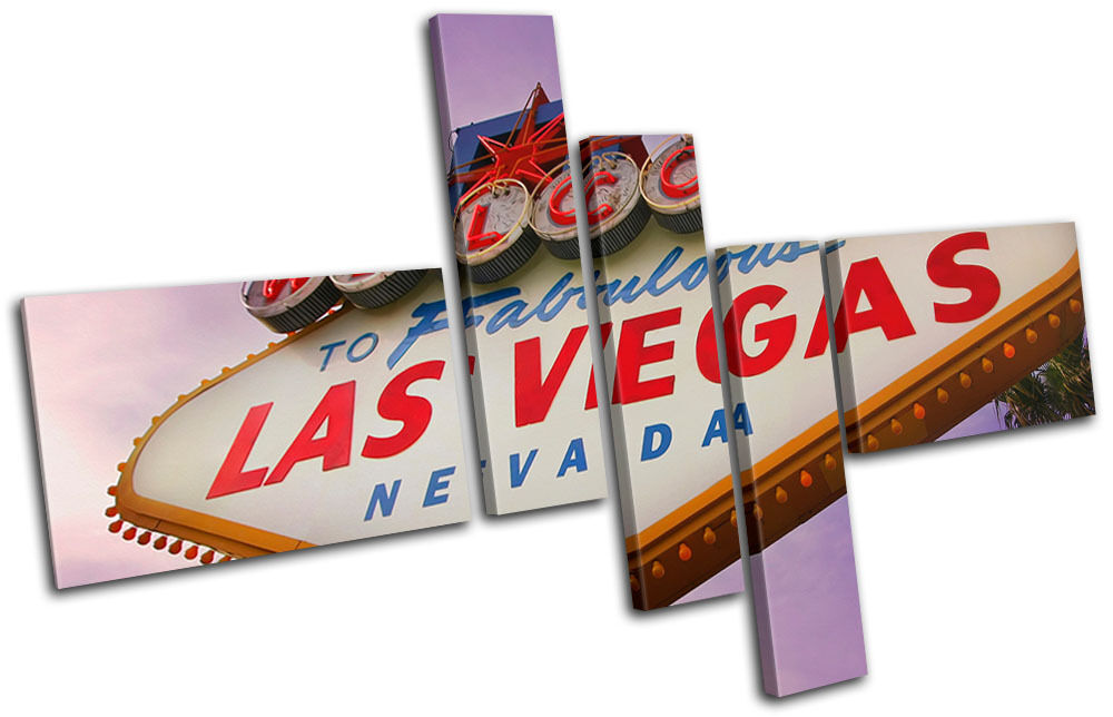 Las Vagas Sign USA Memorabilia Travel Canvas Art Picture Print Decorative Photo
