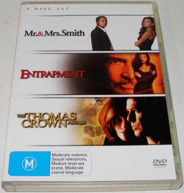 Mr & Mrs Smith / Entrapment / Thomas Crown Affair---- (DVD, 2007, 3-Disc Set)
