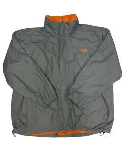 The North Face Men's Gray Full Zip Hyvent Hooded Rain Jacket Size XXL