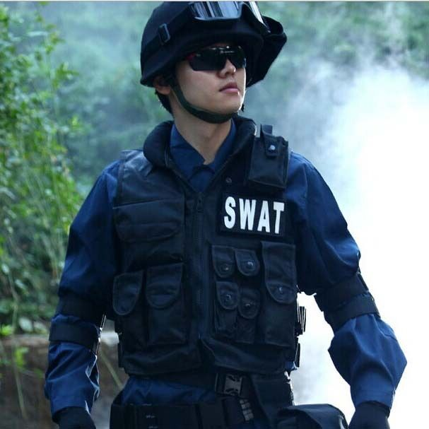 Airsoft Tactical Vest Cool Hunting,Police,SWAT with pistol   gun holster,pouches