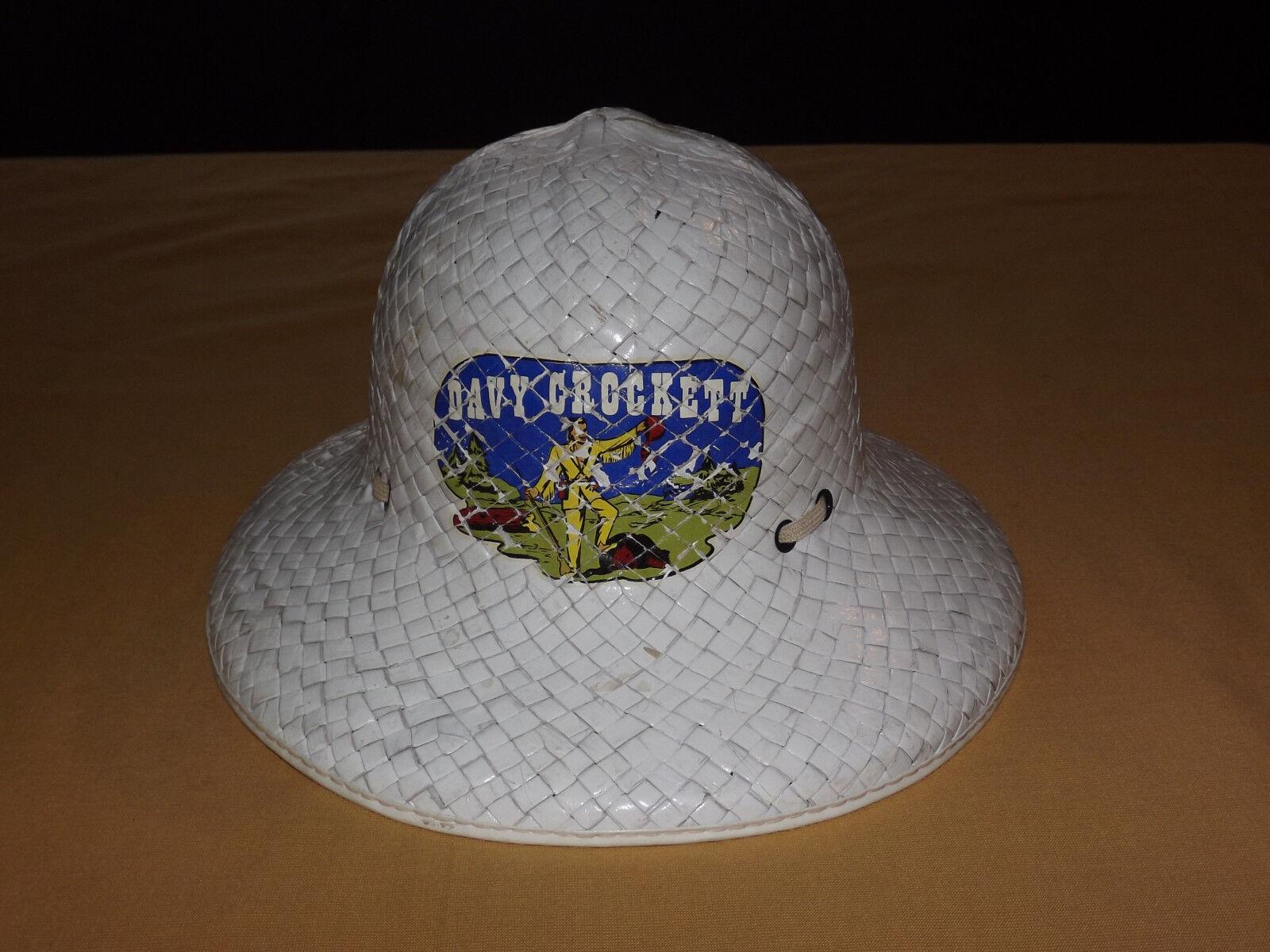 Juguete Vintage Western Pioneer 1950-60s Davy Crockett paja Safari Sombrero