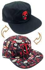 5ea15de8782 item 1 MARVEL COMICS DEADPOOL REVERSIBLE HAT CAP FLAT BILL LOGO SNAPBACK  SUBLIMATED - MARVEL COMICS DEADPOOL REVERSIBLE HAT CAP FLAT BILL LOGO  SNAPBACK ...