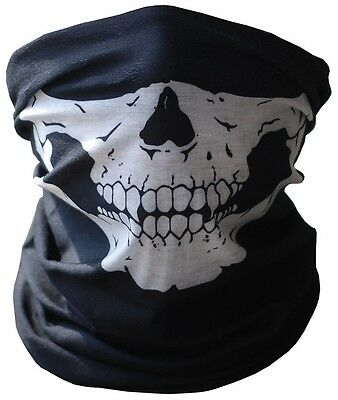 Skull Half Face Bandanna Skeleton Ski Motorcycle Biker Paintball Mask Banadanna