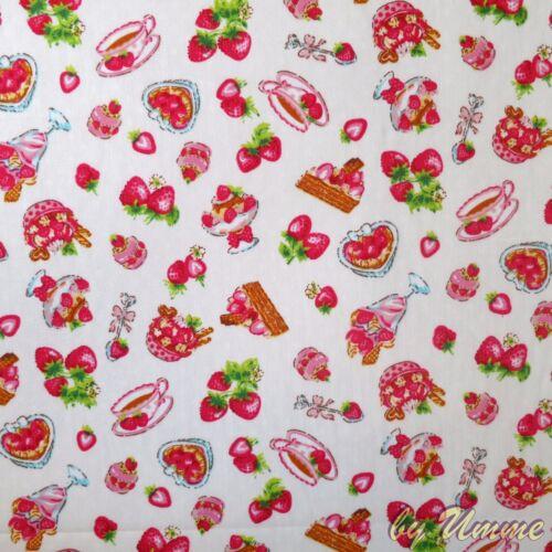 Fat Quarter bundle Ivory metre Coral Floral Fabrics 100/% Cotton Material