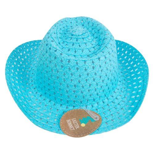 Kids Easter Bonnet Hat,Trilby Cow Boy Hat Girls Boys School Parade One Size