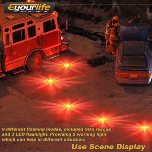 3X LED Route Éclater Flash Attention Lumière Route Éclater Urgence Disque Balise