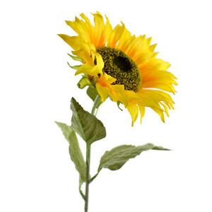 Tall Silk Sunflower Stem Yellow 33 Inch 6091315004627 Ebay
